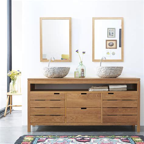 meuble sous vasque en chne massif pour salle de bain tikamoon