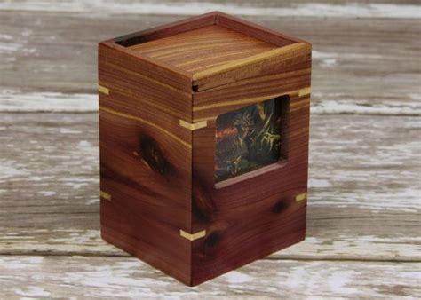 magic the gathering custom quot aromatic cedar maple quot commander deck box deck vault yughio