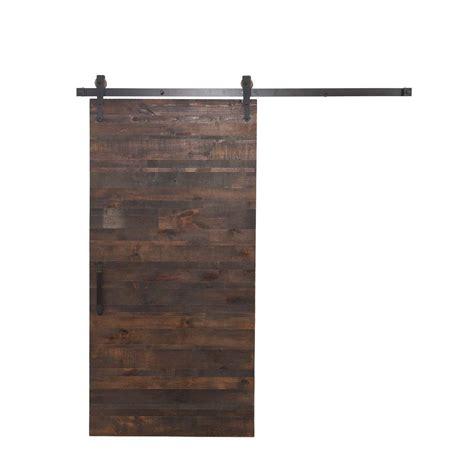 barn door home depot rustica hardware 36 in x 84 in rustica reclaimed wood
