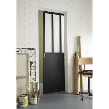 porte coulissante 224 vitrer atelier 204x73 cm leroy merlin portes merlin and