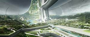 Elysium space station - The work of Syd Mead has inspired ...