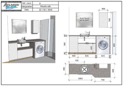 un meuble au design moderne avec lave linge et panier int 233 gr 233 atlantic bain