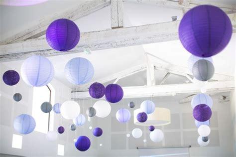 boules chinoises lanternes japonaises papier argent gris violet parme mauve pourpre lavande