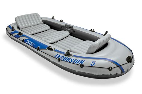 Inflatable Boat Dinghy by New Intex Excursion 5 Inflatable Boat Set Raft Dinghy With