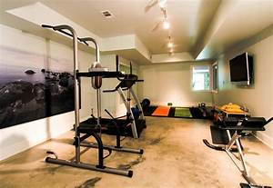 Modern Basement Home GYM Area Design With TV Room - Home ...