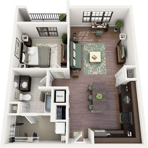 3d floor plan image 2 for the 1 bedroom studio floor plan one bedroom apartment floor plans and floor plans on