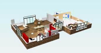 plan maison contemporaine en 3d