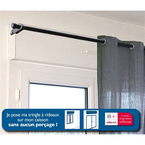 support sans per 231 age tringle 224 rideau ib 25 mm noir mat ib leroy merlin