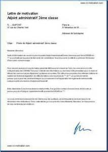 lettre de motivation adjoint administratif