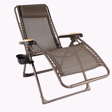 the zero gravity lounger brown sling by leisure select