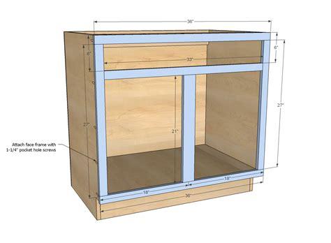 white build a 36 quot sink base kitchen cabinet