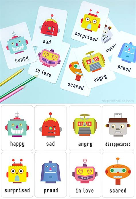 Printable Emotion Flash Cards  Available In English, French, Du…  Love To Learn By Mr