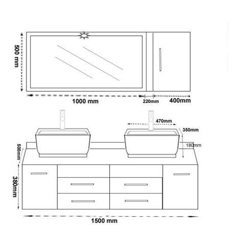 meuble vasque hauteur