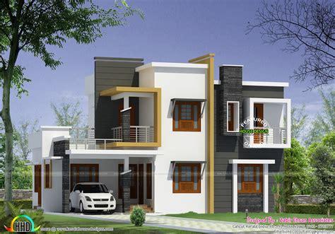 Box Type Modern House Plan  Kerala Home Design And Floor