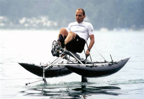 Pedal Catamaran Hydrofoil by Why Paddles Instead Of Propellers Human Powered Page