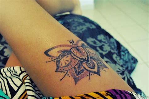 45 Best Lotus Flowers Tattoos On Thigh
