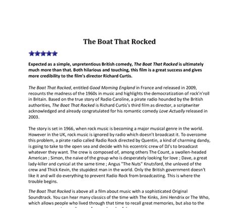 The Boat Movie Review by Movie Review Essay Film Censorship Essay Persuasive