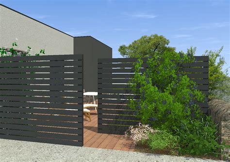 jardin autour d une maison contemporaine mon jardin en ligne