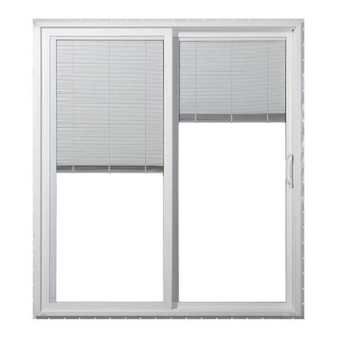 Patio Door With Blinds Between Glass by Shop Jeld Wen 59 5 In Blinds Between The Glass White Vinyl