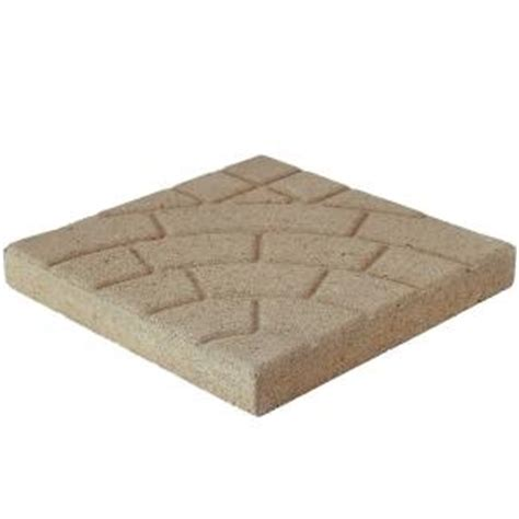 pavestone cobble 16 in x 16 in buff concrete step 72304 the home depot