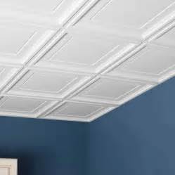 Drop Ceiling Tiles 2x2 White by Genesis Ceiling Tile 2x2 Icon Coffer Tile In White