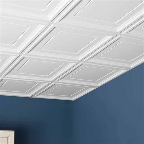 genesis ceiling tile 2x2 icon coffer tile in white