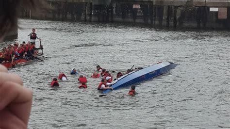 Dragon Boat Racing Preston by Two Dragon Boat Racing Crews Capsize In Preston Dock