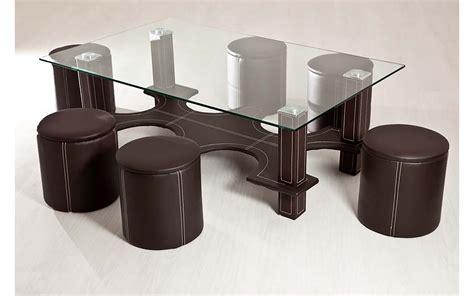 table basse 6 poufs marron top d 233 co