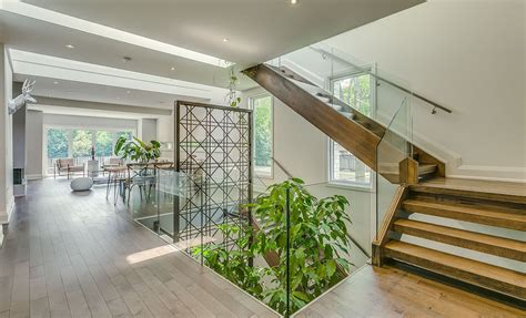 Garden Void Home In Toronto Boasts A Beautiful Multi-level