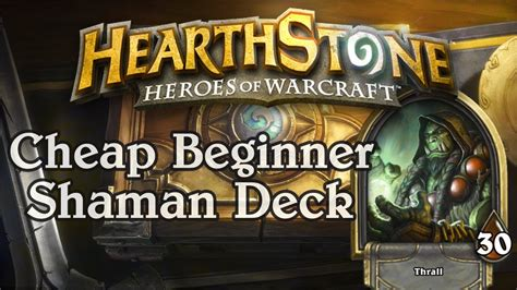 hearthstone simple cheap beginner shaman deck