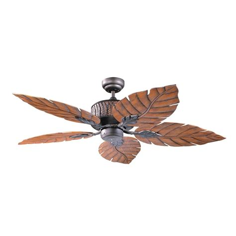 kendal lighting ac13152 orb 52 in fern leaf ceiling fan atg stores