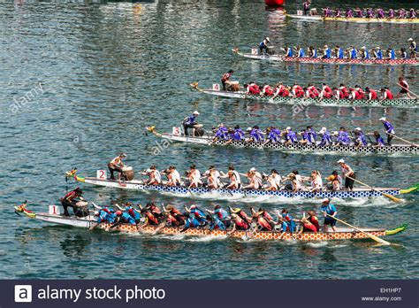 Parts Of A Dragon Boat by High Angle View Of A Dragon Boat Race Part Of Chinese New