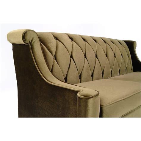 armen living barrister velvet sofa in green lc8443green
