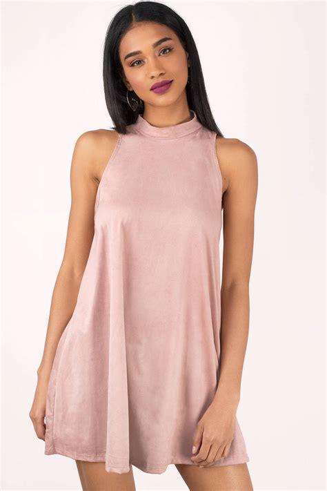 Sleeveless Dress by Beige Dress Sleeveless Dress Mock Neck Dress Mini