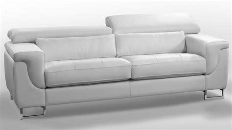 canap 233 design cuir blanc 3 places canap 233 pas cher