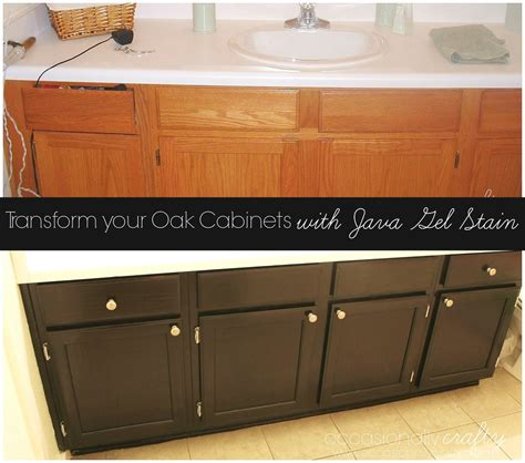 update your cabinets with gel stain bathroom ideas