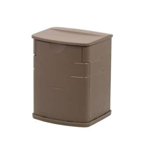 Rubbermaid Deck Box Home Depot by Rubbermaid 19 Gal Resin Deck Box 1828823 The Home Depot