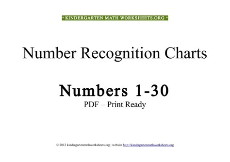 Free Kindergarten Math Worksheets Numbers In Pdf  Kindergarten Math Worksheets Org
