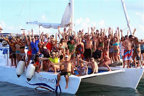 Catamaran Party Boat Cancun by The Excursions Of Recess Mexico 2017 Featuring The