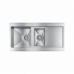 Edelstahl Spüle Doppelbecken : cm revers 100x52 einbausp le doppelbecken edelstahl geb rstet fab ~ Markanthonyermac.com Haus und Dekorationen
