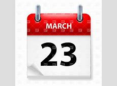March 23 calendar icon Royalty Free Vector Clip Art