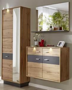 Garderoben Set Grau : garderobe coast wotan eiche dekor und grau 3 teilig ~ Markanthonyermac.com Haus und Dekorationen