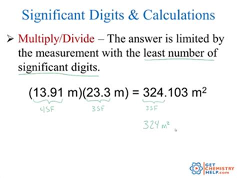 Chemistry Lesson Significant Digits & Calculations  Get Chemistry Help