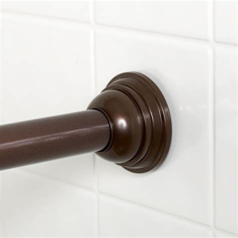 zenna home 775rb tension shower curtain rod 44 to 72 inch rubbed bronze ebay