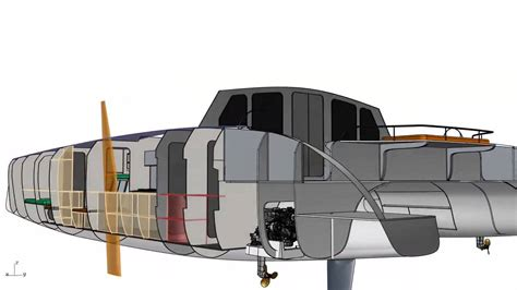 Schionning Catamaran Design by G Force 1700c Cad Rendering Schionning Designs Sailing
