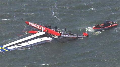 Boat Crash Good Morning America by America S Cup Boat Capsizes Leaving 1 Dead Video Abc News