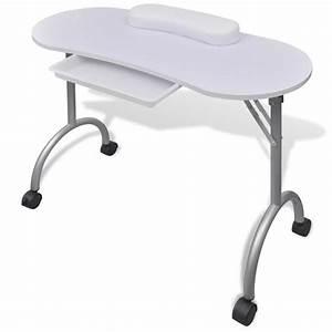 Tisch Rollen Klappbar : klappbarer manik re tisch mit rollen wei g nstig kaufen ~ Markanthonyermac.com Haus und Dekorationen