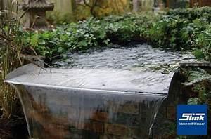 Teich Mit Wasserfall : edelstahl berlauf element fabricius 60 slink ideen mit wasser ~ Markanthonyermac.com Haus und Dekorationen