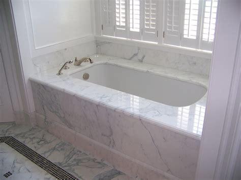 calacatta marble 1 tub deck tub skirt