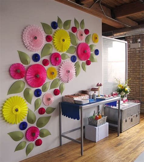 Wall Flowers Decor by How To Make Giant Paper Flowers Youtube Best Tutorial